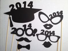 2014 Graduation Photo Booth Props Grad Party 8 by CleverMarten