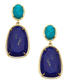 Carolee lapis turquoise double drop earrings Would have been perfect for your wedding Dondee!!