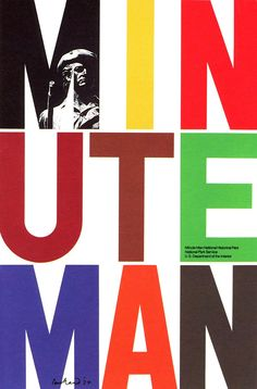 "Paul Rand, ""MINUTE MAN"" Poster, National Historical Park U.S.Department of the Interior, 1974"