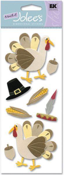 Jolee's Boutique Dimensional Stickers - Thanksgiving Turkey