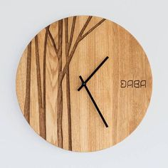 Wall Clock Design 583075482984875835 - Modern Wall Clock Custom Wedding or Anniversary Clock Gorgeous Wall Decor Custom Engraving PAULIS Made by DABA Source by ericgranouillac Unique Wall Clocks, Wood Clocks, Large Wall Clocks, Modern Clock, Modern Wall, Minimalist Wall Clocks, Objet Deco Design, Anniversary Clock, Deco Luminaire