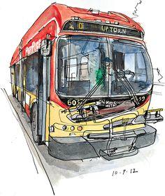 Seattle Sketcher Auf seattletimes.com http://www.pinterest.com/yoshikashi/travelers-notesketchbook/