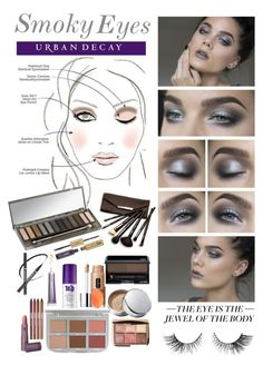 """""""Smoky Eyes"""" by nancyh4745 ❤ liked on Polyvore featuring beauty, Chantecaille, Clinique, Borghese, Shiseido, Urban Decay, tarte, CARGO, Lipstick Queen and Hourglass Cosmetics"""