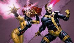 Jim Lee Cyclops and Jean Grey
