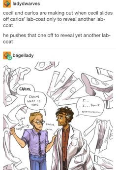 Welcome to Night Vale Cecil and Carlos Tumblr post
