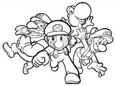 mario colouring in sheet - Colouring In Sheet