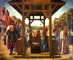 File:Lazzaro Bastiani - Natività tra i santi Giacomo ed Eustachio, Nicolò e Marco.jpg