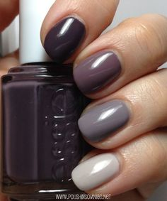 polish insomniac: An Essie Ombre - Smokin' Hot, Merino Cool, Chinchilly, and Body Language Like this.