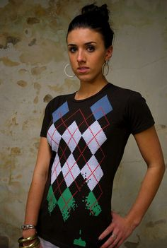 Space Invaders Argyle Tees :D