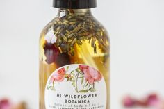 It's the season of body oils, and lathering yourself after a hot shower never smelled so wonderful. Hi Wildflower's Botanical Body Oil No. 1 is a floral-spice blend of Rose, Wild Lavender, Cardamom, Clove and Vanilla in a luxurious blend of organic jojoba and sweet almond oil. There are dried botanicals in the oil to infuse the scent with the potent scent of rose, lavender and cinnamon.