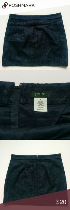 J Crew Sparkle Navy Skirt size 6 In great used condition   Classic navy color with a  hint of sparkle!  All reasonable offers considered! J. Crew Skirts Mini