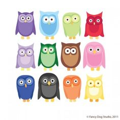 12 clip art owl images in bright colors. Professionally created graphics that print with crisp and clean edges. Cute Clipart, Clipart Images, Owl Clip Art, Owl Wallpaper, Image Digital, Owl Patterns, Cute Owl, Rainbow Colors, Bright Colors