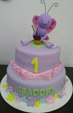 Bolo borboletinha Felt Fish, Birthday Cake, Baby Shower, Ideas Para, Aurora, Desserts, Food, Birthday Cakes, Sweets
