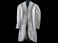VINTAGE  JACKET COAT LACE LINEN WHITE MUTTON SLEEVES Wedding White Edwardian Vic #vintagejacketcoat#edwardian