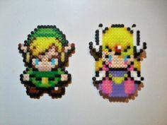 Link e Zelda, The Minish Cap. Hama beads. http://fun-bit.lojaintegrada.com.br/