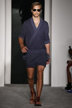 Michael Bastian, SS 2013. The kimono top and the sandals!                    Runway, Fashion Week, Reviews and Slideshows - WWD.com