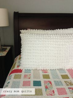 crazy mom quilts: chenille shams  Love the quilt too.