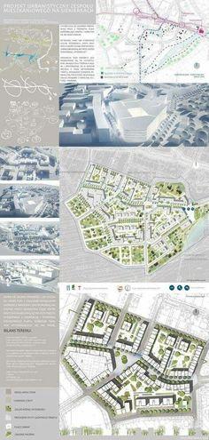 Urban Design - Siekierki District on Behance More - Architektur Masterplan Architecture, Architecture Panel, Landscape Architecture Design, Architecture Diagrams, Architecture Portfolio, Urban Design Diagram, Urban Design Plan, Landscape Concept, Urban Landscape