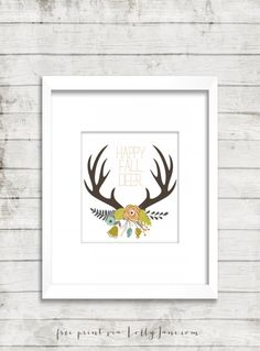 fall antler art free printable