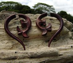 Organic Fake Gauges Wood Earrings 100% Organic wood earrings all natural made from savage sono wood.the earrings is light weight and with post is hypo