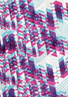 Poster Geometria Purple - Daniel Taira