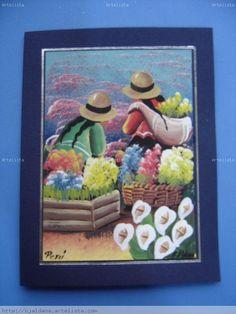 Peruvian Women, Peruvian Art, South American Art, Malaga, Origami, Decoupage, Flowers, Painting, Inspiration