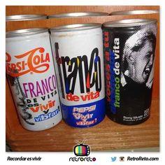 ¿Quién recuerda estas lata de Pepsi con Franco De Vita? RetroReto.com