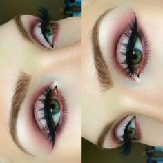 Soft pink cut crease                                                                                                                                                                                 More