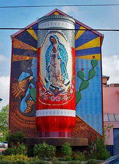 Virgin Mary Mosiac -- San antonio, TX