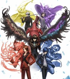 The protagonists from the Persona series, artist unknown Persona 5 Memes, Persona 5 Joker, Persona 4, Game Character, Character Design, Oc Template, Persona Crossover, Shin Megami Tensei Persona, Akira Kurusu