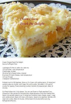 Cream Cheese Peach Pie Delight