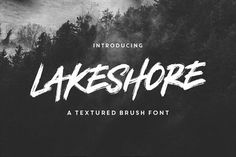 Lakeshore Brush Font by Greg Nicholls on @creativemarket