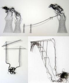 Elodie Antoine lace art