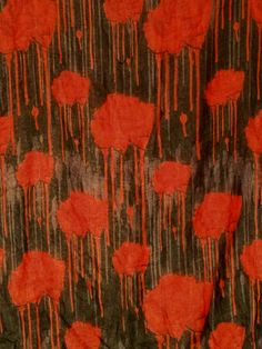 Dripping Blood Rose Square Scarf by BondStreetExit on Etsy