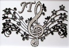 Quilled treble clef - again by pinterzsu