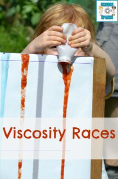 Find out whether thick or thin liquids flow faster in this fun activity. #Viscosity #Science #Scienceforkids