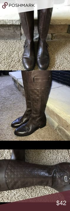 """Etienne Aigner riding boots Etienne Aigner riding boots show minimum wear,  as they were worn inside most of the time. The calf measures 5 1/2"""" wide and does have elastic. Etienne Aigner Shoes Winter & Rain Boots"""