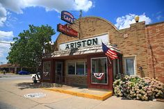 """Route 66 - Ariston Cafe. On old Rt. 66 in Litchfield, Illinois.  """"The Fine Art Photography of Frank Romeo."""""""