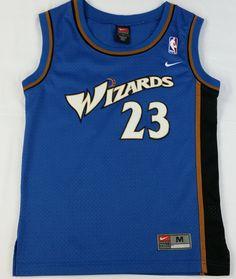 Michael Jordan  23 NIKE Jersey Washington Wizards NBA Sewn Blue Youth Boys M da812d1bf