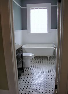 small bathroom  floor and walls