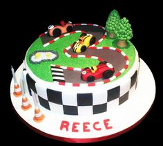 Easy Tea Party Cookies Cakes with Racing Car Theme
