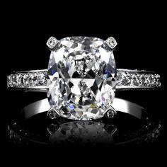 Alexia's 3 Carat Engagement Ring - Cushion Cut