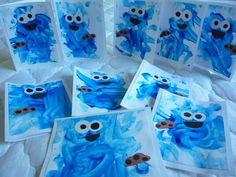 Crafty Mama: Cookie Monster Thank You Cards