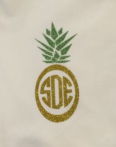 pineapple glitter iron on monogram diy monogram shirt big little sorority family shirt bridesmaid monogram