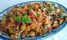 Caponata siciliana http://blog.giallozafferano.it/passioneperilcibo/caponata-siciliana/  #caponata  #italianfood #italianrecipes #sicilianfood #sicilianrecipes