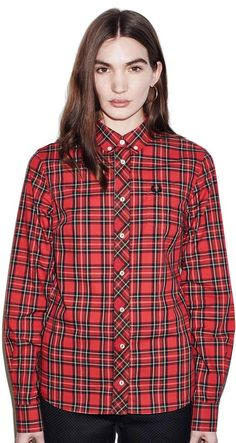 Wimbledon Champions, Classic Style Women, Fred Perry, Button Down Collar, Plaid, The Originals, Womens Fashion, Vintage, Tops