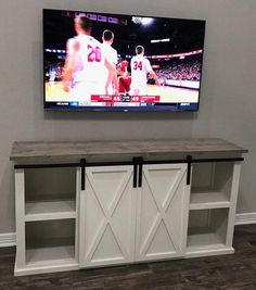 This beautiful TV stand is a custom handcrafted piece of furniture perfect for your living room or family room. Its country charm is sure to be the ta… Living Room White, Living Room Tv, Living Room Remodel, Small Living Rooms, Living Room Furniture, Family Furniture, Unique Furniture, Kitchen Furniture, Diy Furniture