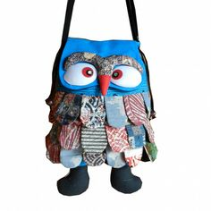 """BTP! Handmade Owl Hipster Cross Body Shoulder Bag Purse Cotton Handbag Unique OL38. Brand new with Tag """"BenThai Products"""" in Original Packaging & Signature gift. Size : Width 11"""" Long 18"""" ( Top to bottom): 11""""x10"""" lining inside bag. Drawstring closer and open top owl's face, adjustable Shoulder Strap up to 35"""". Handmade from left over 100% cotton. Due to the uniqueness of this product, designs and colors may vary slightly."""