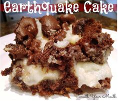 Earthquake Cake-hit -though use less powdered sugar in the white part..liiiittle sweet