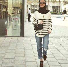 hijab with boyfriend jeans, Hijab trends 2016 http://www.justtrendygirls.com/hijab-trends-2016/